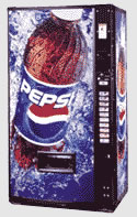 Free pepsi Vending machine